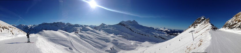 The view from Avoriaz top station
