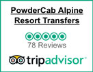 Powder Cab Five Stars on TripAdvisor