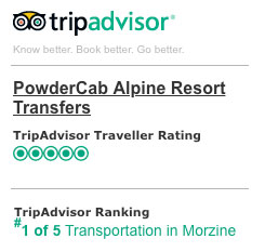 Powder Cab 5 Star Trip Advisor Rating