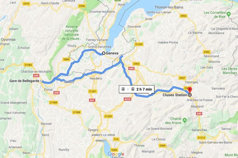 Geneva to Morzine Cluses Train